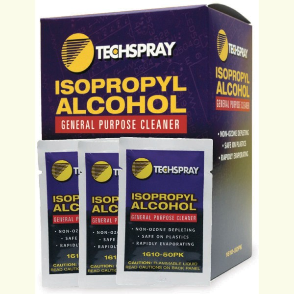Techspray 1610-50PK Alcohol Pre-Saturated Wipes 50 Pack