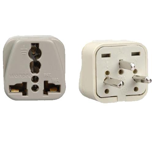 48-575 World Traveler Universal AC Plug Adapter to Israel