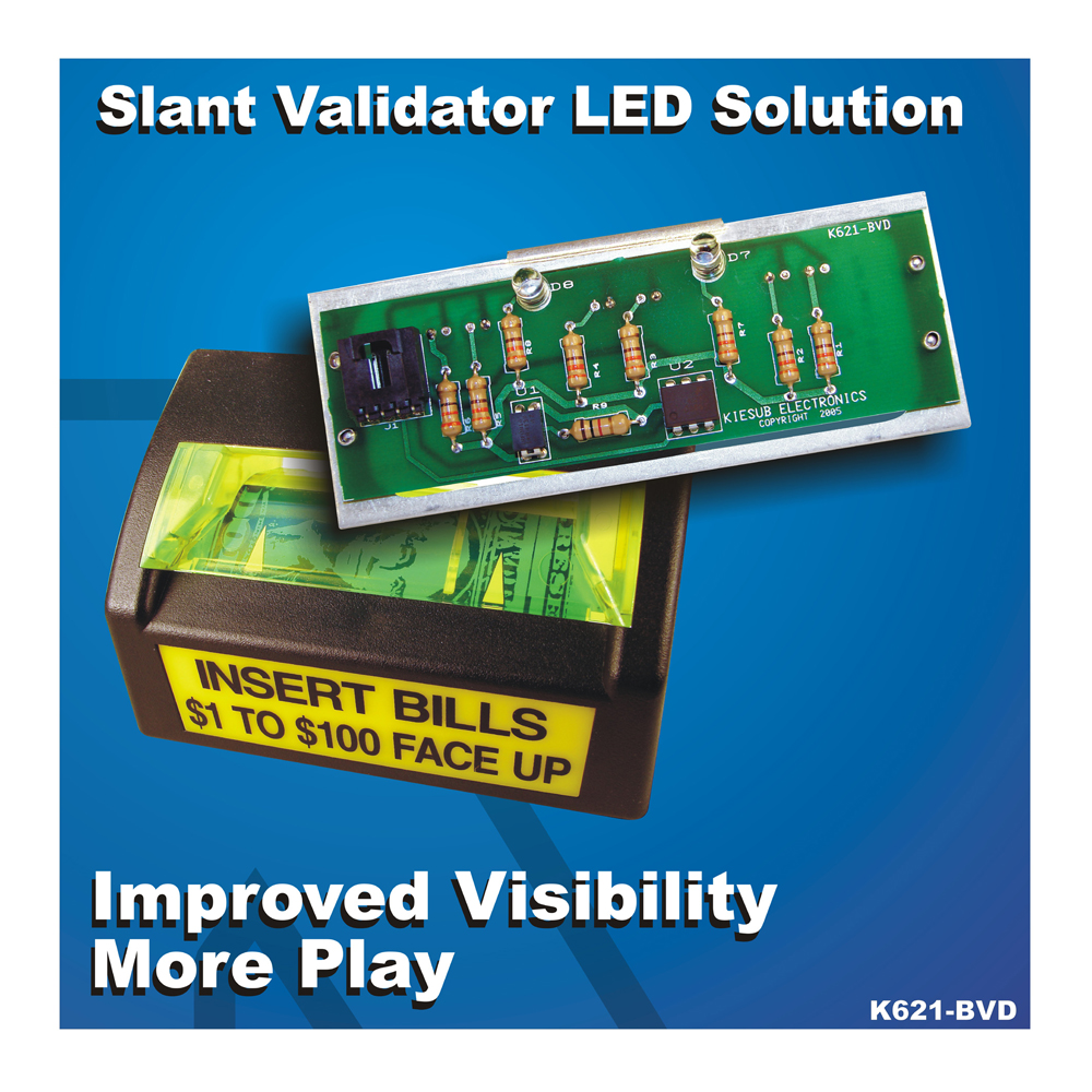 K621-BVD LED Replacement Board for Bill Validator on IGT Slant Top Slot Machines