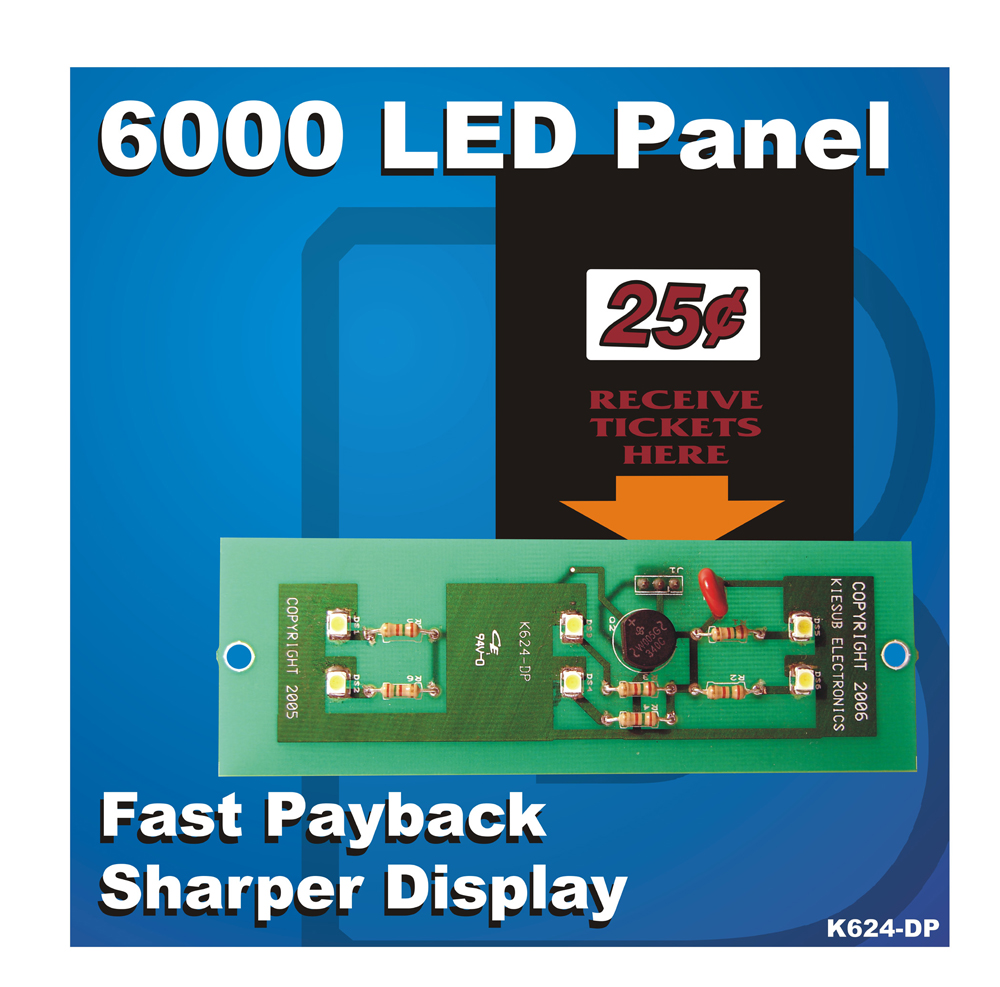 K624-DP LED Replacement Board for Display Panel on Bally 6000