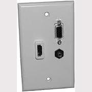 75-1057 Designer Wall Plate HDMI-VGA-3.5mm