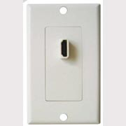 75-1077 HDMI Single Feedthru Wall Plate