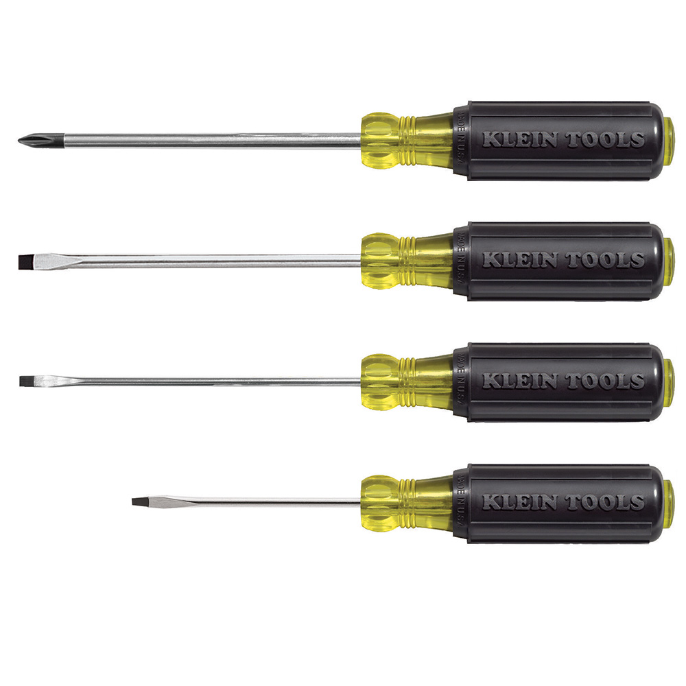 Klein 85484 4-Piece Mini Cushion-Grip Screwdriver Set