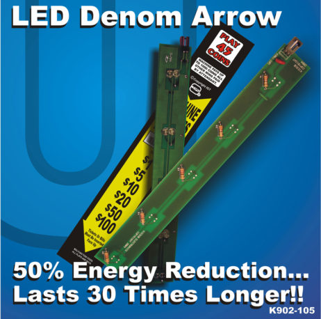 K902-105 All Yellow LED Replacement Board for Denom Panel on IGT GK Upright or I-Game Slot Machines