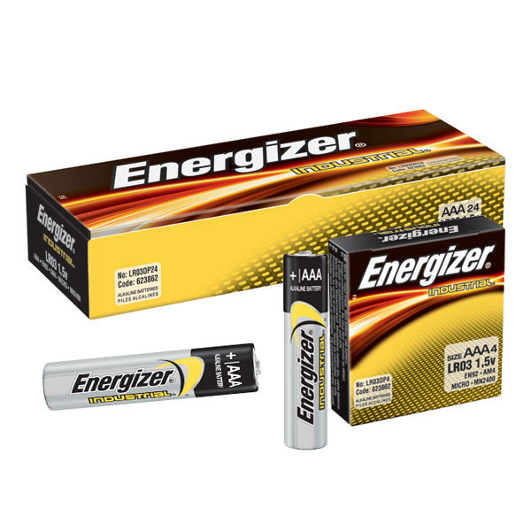Energizer EN92 Industrial AAA Battery, 24/pk