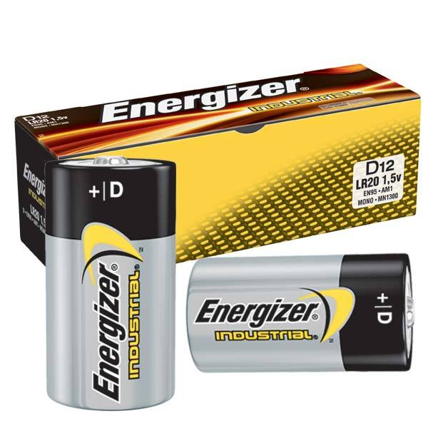 Energizer EN95 Industrial D Battery, 12/pk