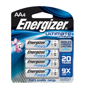 Energizer L91BP4 Photo Lithium Batteries