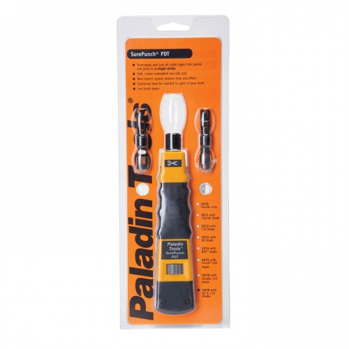 Paladin PA3579 SurePunch Punchdown Tool with 110 66 Blades