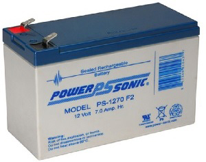 Powersonic PS-1270-F2 12V 7AH F2 Battery