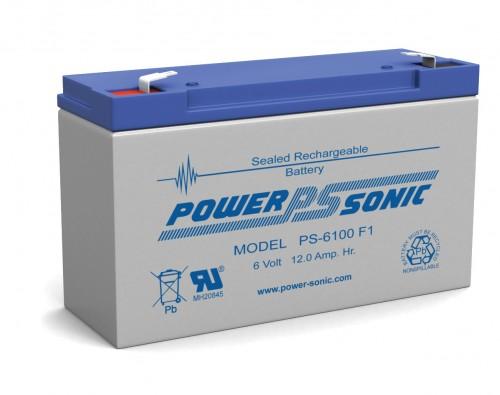 Powersonic PS-6100-F2 6V 12AH F2 Battery