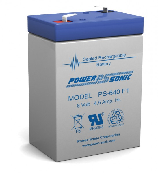 Powersonic PS-640F 6V 4.5AH Battery