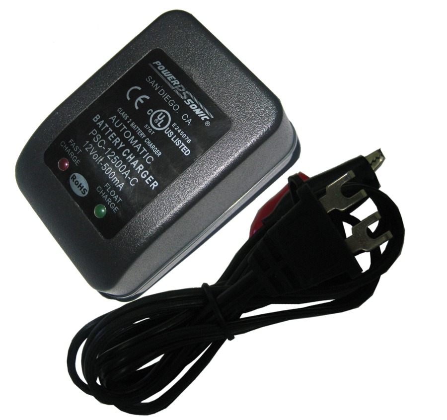 Powersonic PSC-12500A-C 12-Volt 0.5-Amp Battery Charger