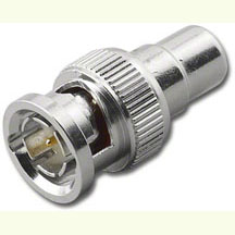 RFA-8393-75 BNC Male to RCA Female Adapter, 75 ohm