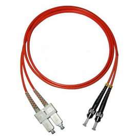 SC-ST Multimode Duplex Fiber Optic Jumpers