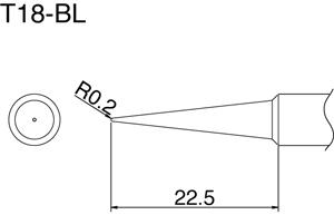 Hakko T18-BL Solder Tip