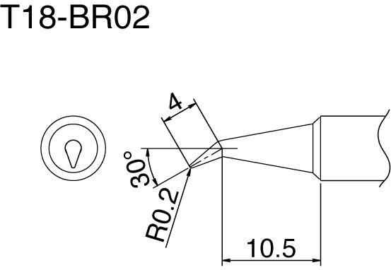 Hakko T18-BR02 Solder Tip