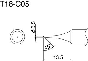 Hakko T18-C05 Solder Tip