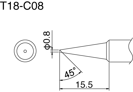 Hakko T18-C08 Solder Tip