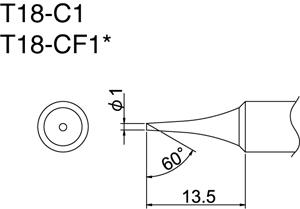 Hakko T18-C1 Solder Tip