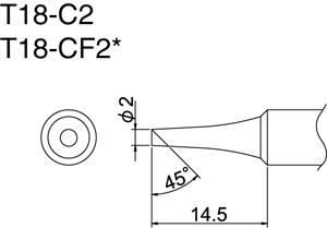 Hakko T18-C2 Solder Tip
