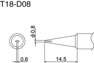 Hakko T18-D08 Solder Tip