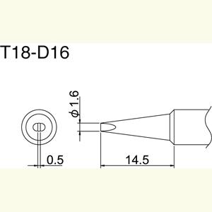 Hakko T18-D16 Solder Tip