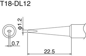Hakko T18-DL12 Solder Tip
