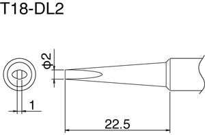 Hakko T18-DL2 Solder Tip