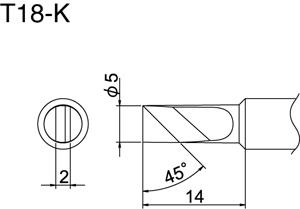Hakko T18-K Solder Tip