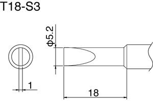 Hakko T18-S3 Solder Tip