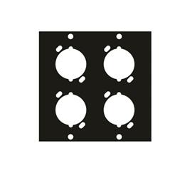 Middle Atlantic UNIV4 Universal Connector Rack Panel