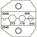 Paladin PA2046 RG58/174 BNC/TNC, Mini-UHF Die