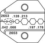 Paladin PA2653 SMA, SMB, Mini-59 BNC/TNC, Mini-UHF RG58/174 Die