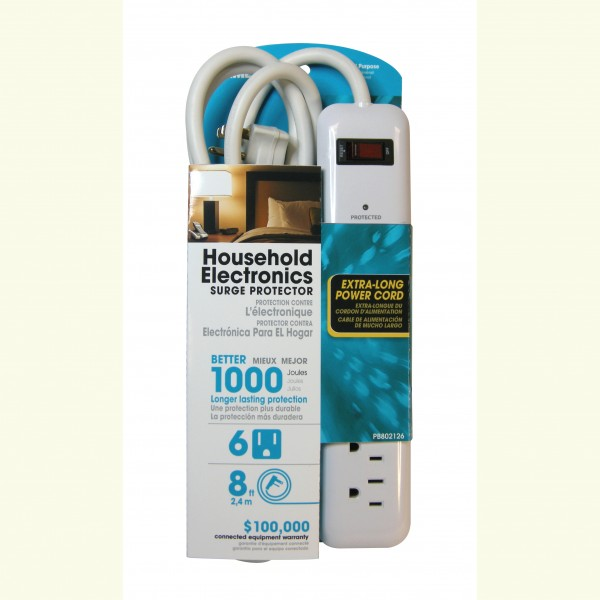 Prime PB802126 6-Outlet 1000J Surge Protector Strip