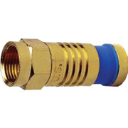 Platinum Tools 18010 F-Type Gold RG6 SealSmart Compression Connector, 10-pk