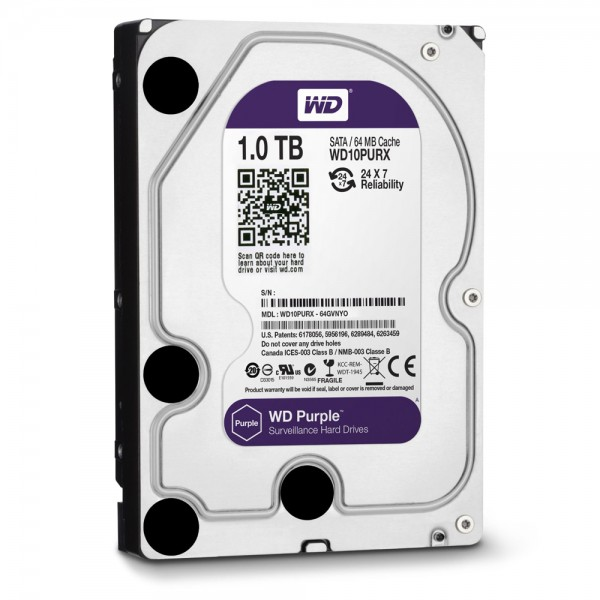 Western Digital WD10PURX 1TB Internal Video Hard Drive