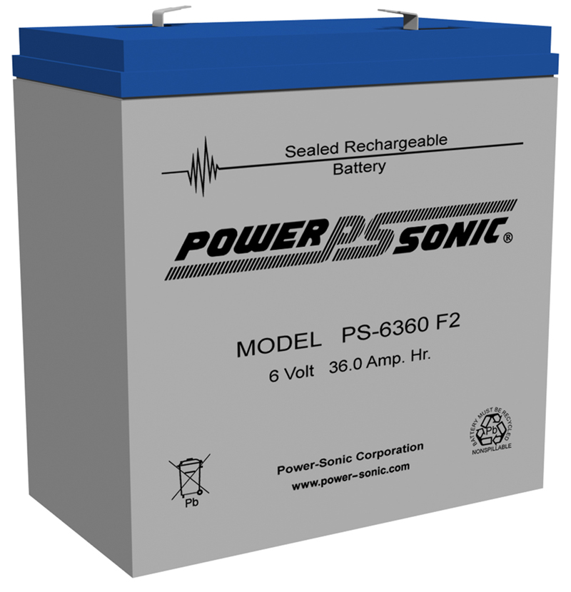 Powersonic PS-6360-F2 6V 35AH Battery