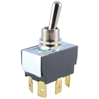 NTE 54-003 SWITCH TOGGLE DPDT 15A ON-NONE-ON 125VAC