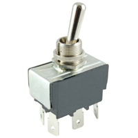 NTE 54-012 SWITCH TOGGLE DPDT 15A ON-OFF-ON 125VAC