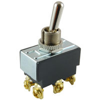 NTE 54-013 SWITCH TOGGLE DPDT 15A ON-OFF-ON 125VAC