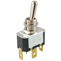 NTE 54-025 SWITCH TOGGLE SPST 15A ON-OFF-ON 125VAC