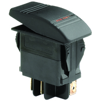 NTE 54-034 SWITCH SNAP-IN ILLUMINATED ROCKER SPST 20A 12VDC ON-NONE-OFF