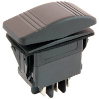 NTE 54-043 SWITCH SNAP-IN ILLUMINATED ROCKER DPDT 20A 12VDC (ON)-OFF-(ON)