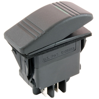 NTE 54-087 SWITCH SNAP-IN ILLUMINATED ROCKER SPST 20A 12VDC ON-NONE-OFF