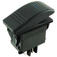 NTE 54-088 SWITCH SNAP-IN ILLUMINATED ROCKER SPST 20A 12VDC ON-NONE-OFF
