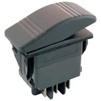 NTE 54-089 SWITCH SNAP-IN ILLUMINATED ROCKER DPDT 20A 12VDC ON-OFF-ON