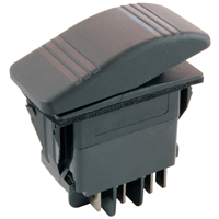 NTE 54-090 SWITCH SNAP-IN ILLUMINATED ROCKER DPDT 20A 12VDC ON-OFF-ON