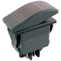 NTE 54-091 SWITCH SNAP-IN ILLUMINATED ROCKER SPST 20A 12VDC (ON)-NONE-OFF