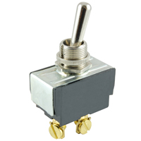 NTE 54-104 SWITCH TOGGLE SPST 15A ON-NONE-(OFF) 125VAC