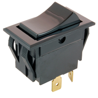 NTE 54-115 SWITCH SNAP-IN ROCKER DPST ON-NONE-(OFF) 15A 125VAC